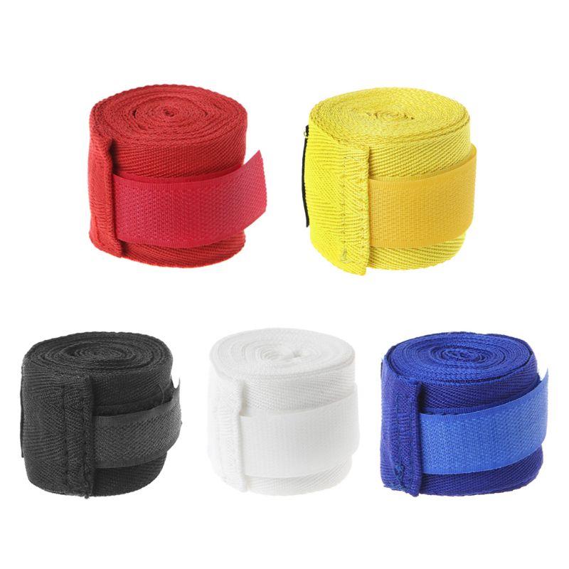 OOTDTY Cotton Boxing Bandage Wrist Wraps Combat Protect Boxing Sport Kickboxing Muay Thai Handwraps Training Gloves 2.5M