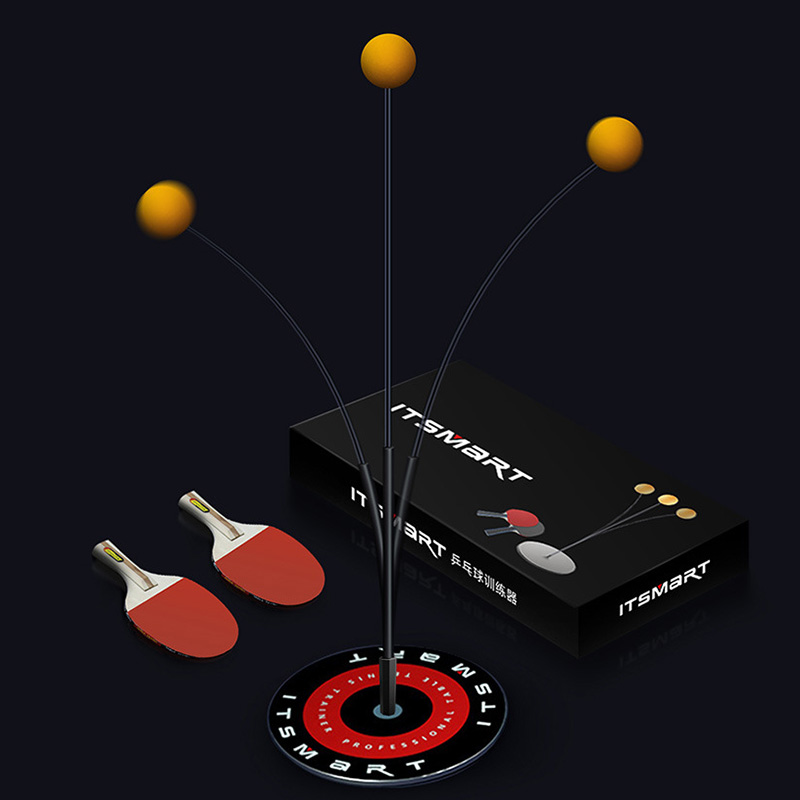 Ping Pong Trainer Mini Table Tennis Sets Ping Pong Table Tennis Balls Elastic Soft Shaft Training Single Player Table Tennis