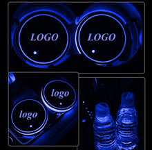 1Pair LED Car Cup Bottle Holder Pad Mat for Volkswagen Auto Coasters Interior Atmosphere Lights Colorful