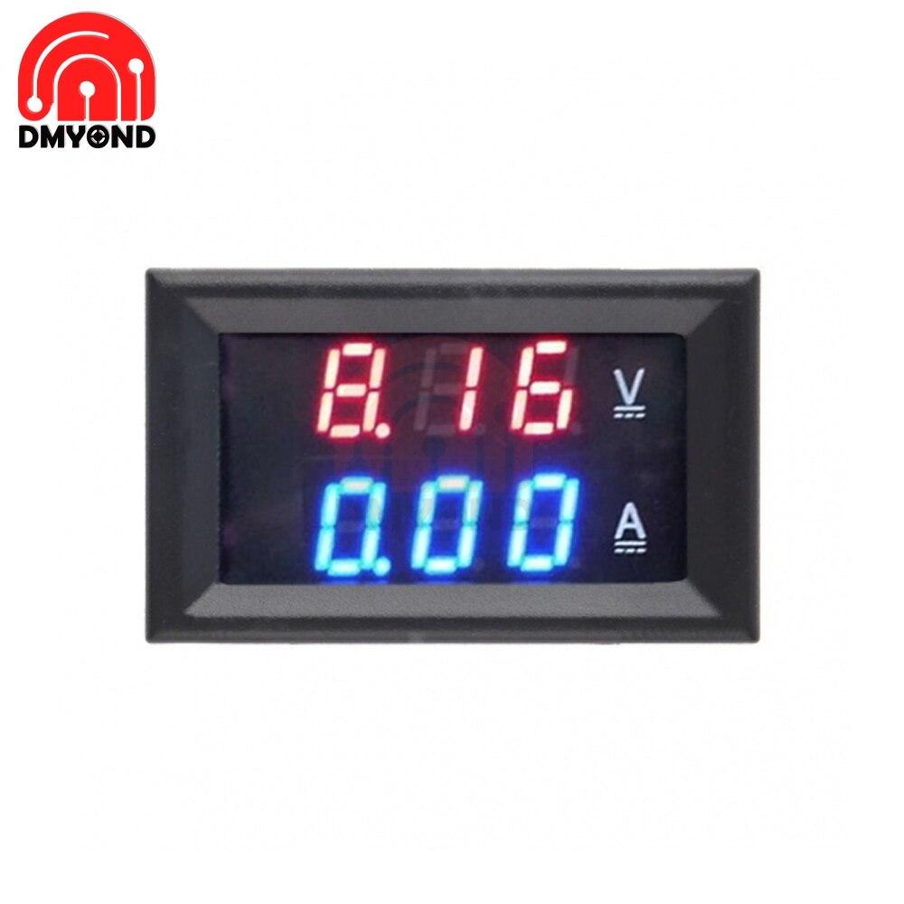 Двойной светодиодный вольтметр постоянного тока, 100 В, 50 А, 0,56 дюйма, электронный цифровой вольтметр, амперметр, регулятор напряжения, вольтметр, тестер Измерители напряжения      АлиЭкспресс
