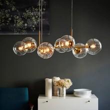 Nordic Molecule Design Glass Ball Pendant Lights For Winehouse Living Room Kitchen Bar Hanging Light Fixtures