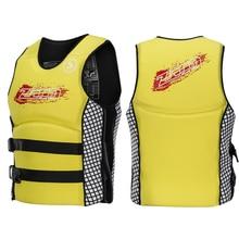 Adult Children's Neoprene Life Jacket Buoyancy Floating Vest S-XXL Buoyancy suitDrifting Rock Fishing Surfing Safety Vest