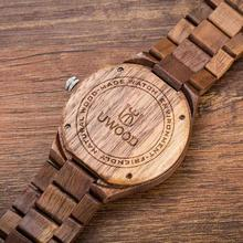 Uwood Wooden Watch for Men Luxury Vintage Quartz Watch Eco-friendly Natural Men Wooden Watch