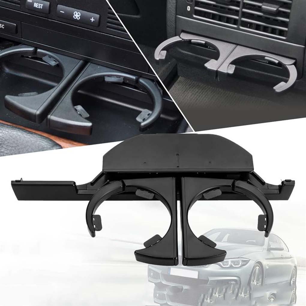 Car Dash Mounted Console Cup Holder Front Left/Right Retractable Drinks Holder for BMW E39