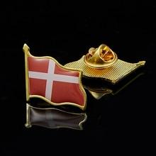 Denmark Waving Epoxy Flag Lapel Pin Badge Brooch Clothes/Hat/Tie Accrssories denmark waving epoxy flag lapel pin badge brooch clothes hat tie accrssories