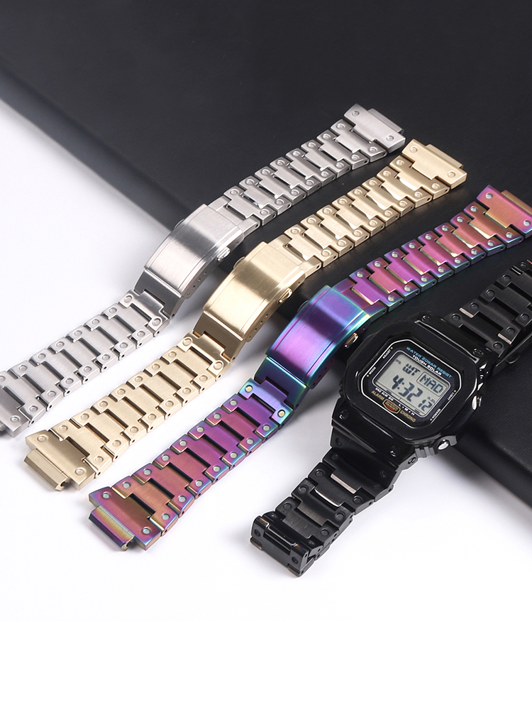 Watch Strap For Casio G-shock DW/GW 5600 5610 Watch Case 316L Stainless Steel Watch Bezel