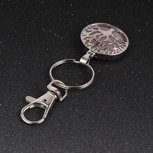 7 Чакра Древо жизни ключ цепочка с натуральным камнем бусины