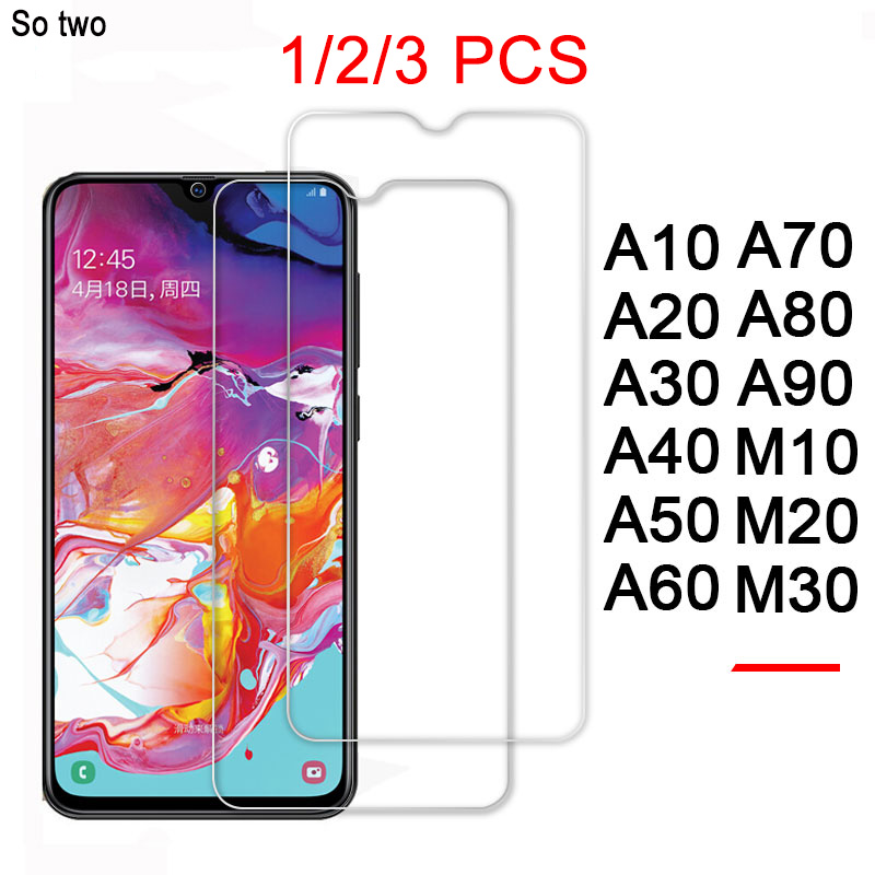 3pc Screen Protector For Samsung A50 A40 A70 A80 A90 A60 Tempered Glass For Samsung A50 a m 10 20 30