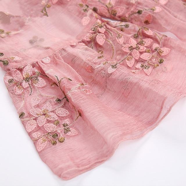 ZUOMAN New Spring Plus Size 4xl Dress Summer Female Silk Dress Female Embroidery Long Vestidos Robes Plus 4