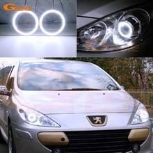 Pour Peugeot 307 T6 2005 2006 2007 2008 2009 Excellente Ultra lumineux COB a mené des yeux d'ange kit anneaux de halo Lumière du Jour