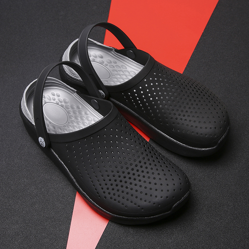 Crocse Crocks   Men Pool Sandals Summer Outdoor CholasBeach Shoes Men Slip On Garden Clogs Casual Water Shower  LiteRide Crock