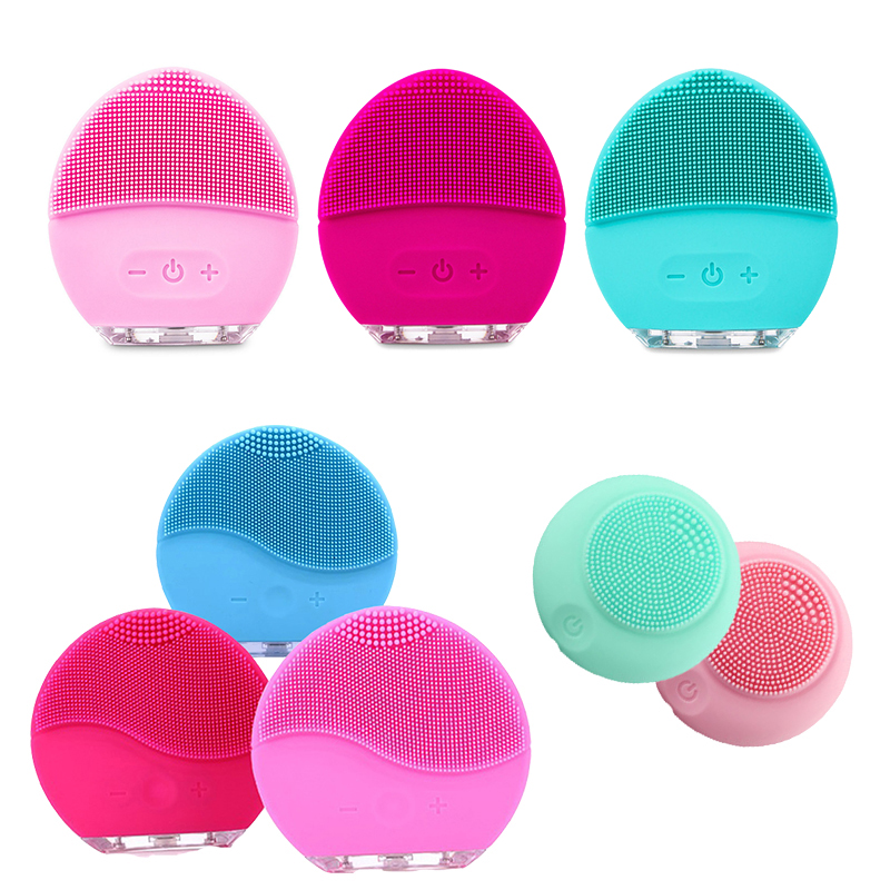 Original Electric foreoing luna mini 2 facial silicon cleaners silicon Vibration Cleaner Pore Skins face cleansing brush Hifus