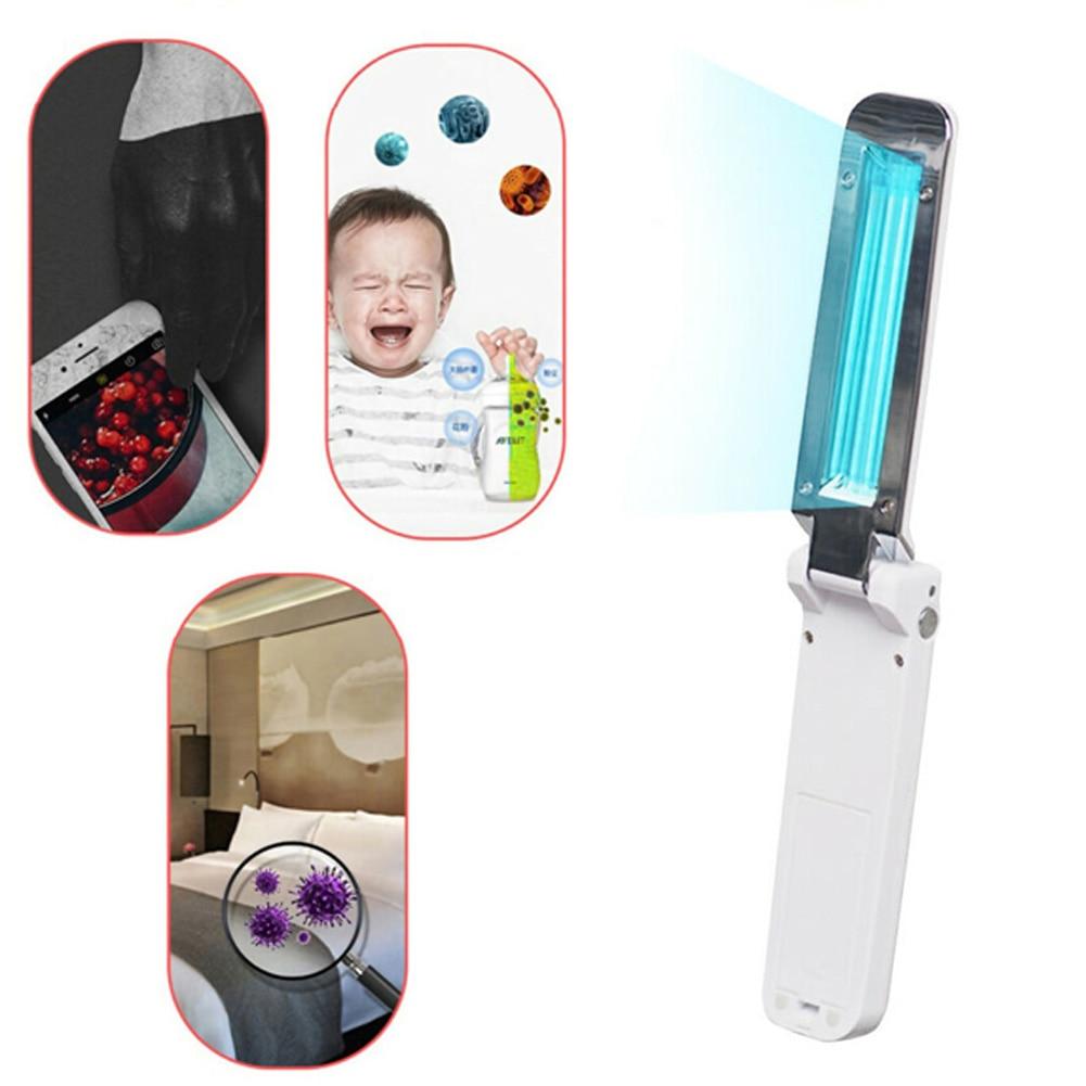 UV Light Mini Travel Wand USB Lamp Handheld Folding Pet Hotel Household Car  Aquariums UV Sterilizers