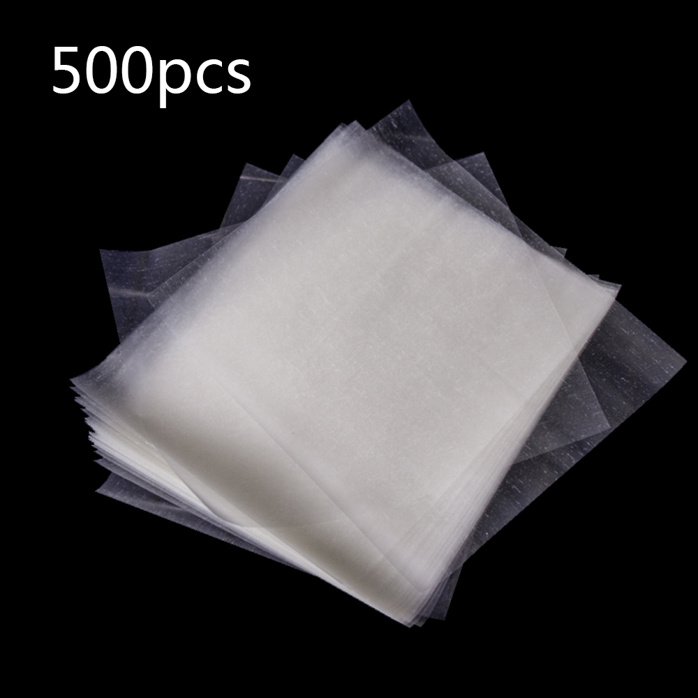 Practical 500 Sheets Edible Glutinous Rice Paper Candy Sugar Coated Wrapping Paper Nougat Edible Paper Transparent Candy Wrapper