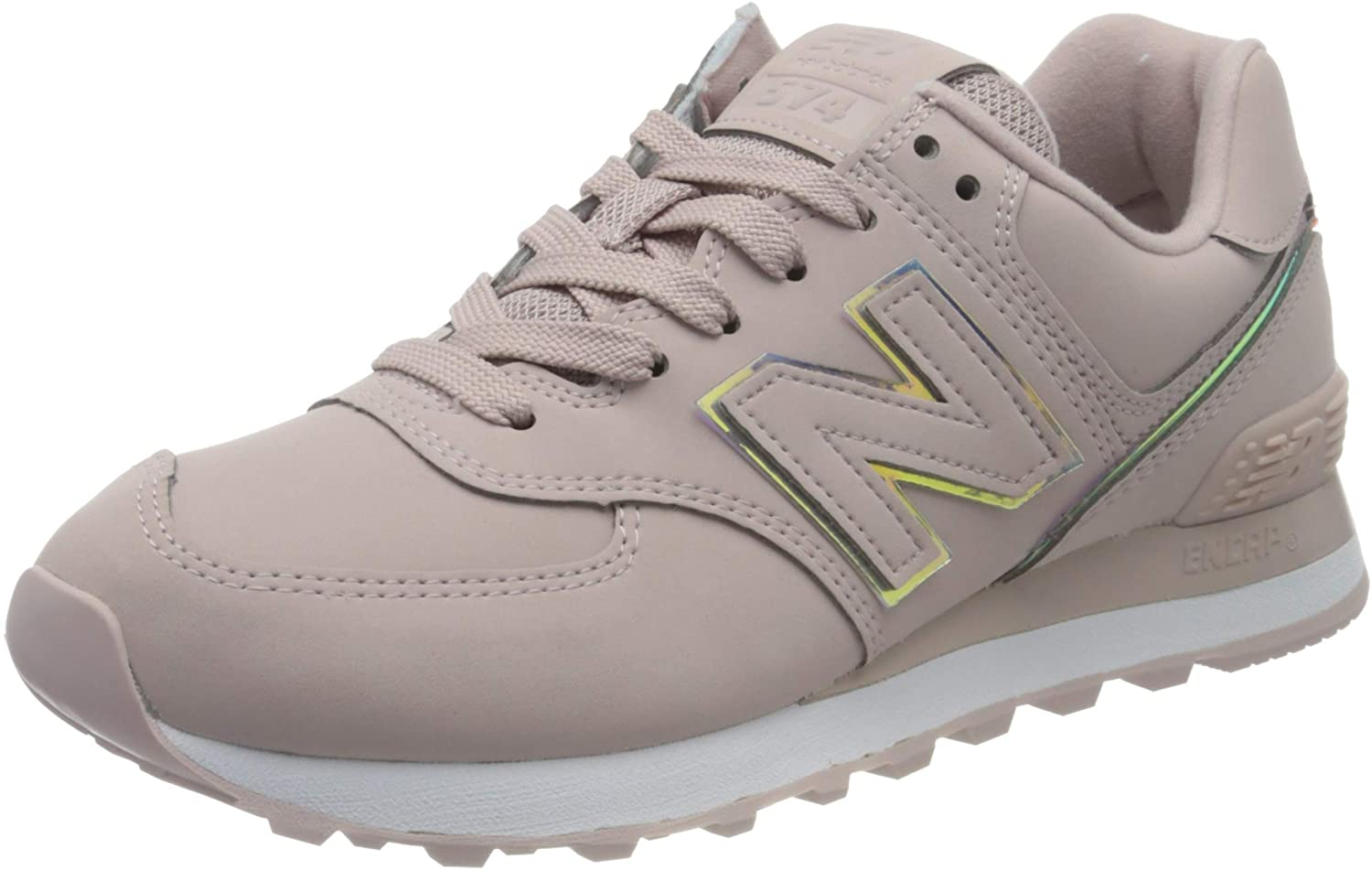 New Balance 574 WL574CLH Medium, athletic shoes, Pink (Space Pink ...