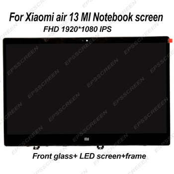 for XIAOMI AIR MI notebook 13 laptop screen LED LCD panel+front glass display MATRIX MONITOR FHD IPS 30 PIN ASSEMBLY+ bezel