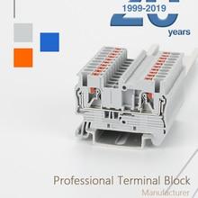 Connector Rail-Terminal-Blocks Spring Pt2.5-Wire-Conductor Screwless Pt-2.5-Push Din