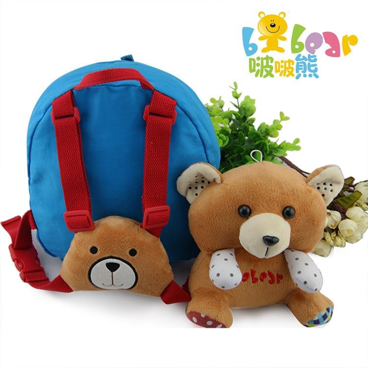 Korean-style Cute Little Bear Schoolbag For Elementary School Students Cartoon Children Animal Backpack Kindergarten Shoulder Sc