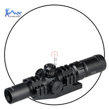 PPT Rifle Scope mil dot Tactical AirGun 1.5-4X30 Spotting RifleScope With Double