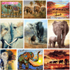 GATYZTORY Elephant series diy oil digital painting by numbers kits abstract acrylic paint by numbers for adults home Decoration