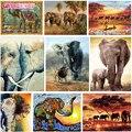 GATYZTORY Elefanten serie diy öl digitale malerei durch zahlen kits abstrakte acryl malen nach zahlen für erwachsene hause Dekoration