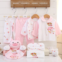17 Piece Newborn Baby Set Boy Clothes 100% Cotton Infant Suit Baby Girl Clothes Outfits Pants Baby Clothing Hat Bib Ropa De Bebe