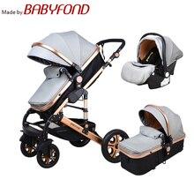 High landscape stroller Luxury 3 in 1 baby stroller can sit