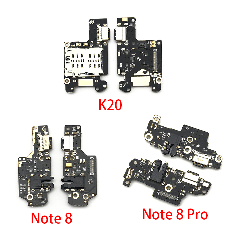 New USB Charging Port Charger Board Flex Cable For Xiaomi Mi 9T Redmi K20 Note 8 Pro Dock Plug Connector With Microphone