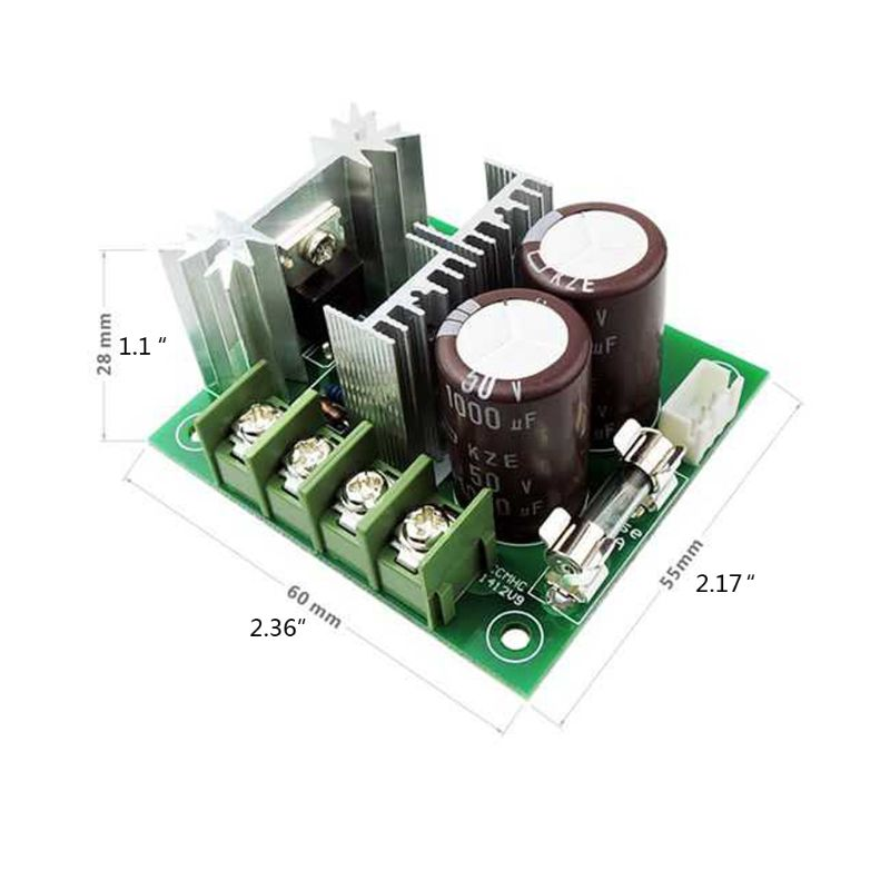 DC 12V-40V DC Motor Speed Controller 400W 10A 10%-100% Adjustable PWM Controller