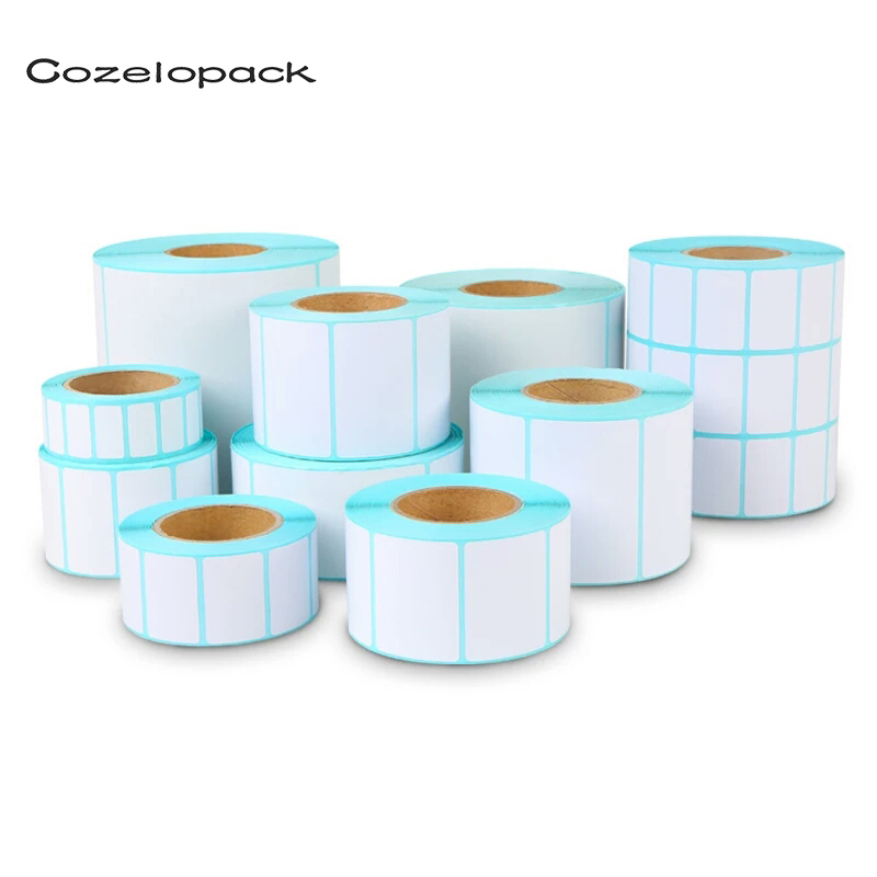 Paper Self Adhesive Thermal White Blank Label Sticker Paper Supermarket Price Blank Label Direct Print Waterproof Print Supplies
