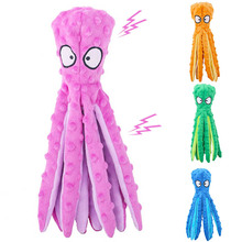 Dog-Squeakers-Toy Octopus Dogs Stuffed Soft 8-Legs Sounder Frenchbull Big-Sized Middle