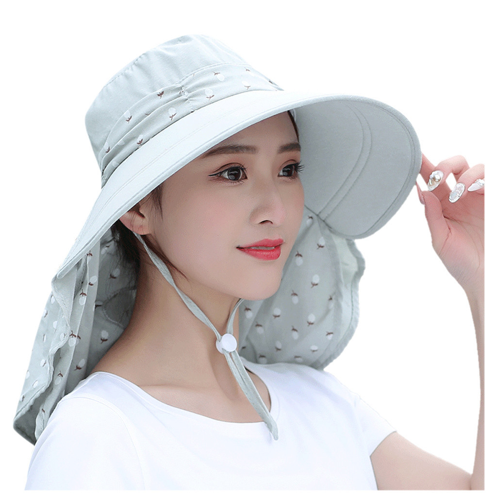 Women Summer Fashion Sunscreen Straw Hat Mouth Face Mask Beach Casual Fisherman Hat Sun Mask Cap Outdoor #B