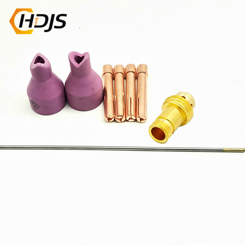 8pcs QQ150 QQ-150A TIG Welding Torch Accessories Matching TIG Welding Machine 150A Welding Machine Inner And Outer Nozzle
