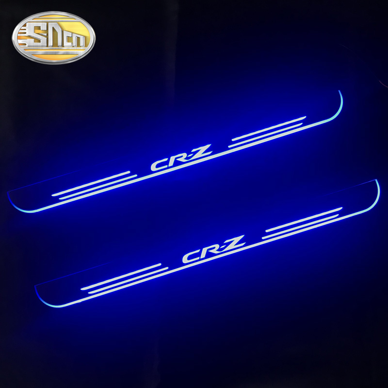 SNCN 2PCS Acrylic Moving LED Welcome Pedal Car Scuff Plate Pedal Door Sill Pathway Light For Honda CR-Z CRZ 2010 - 2018
