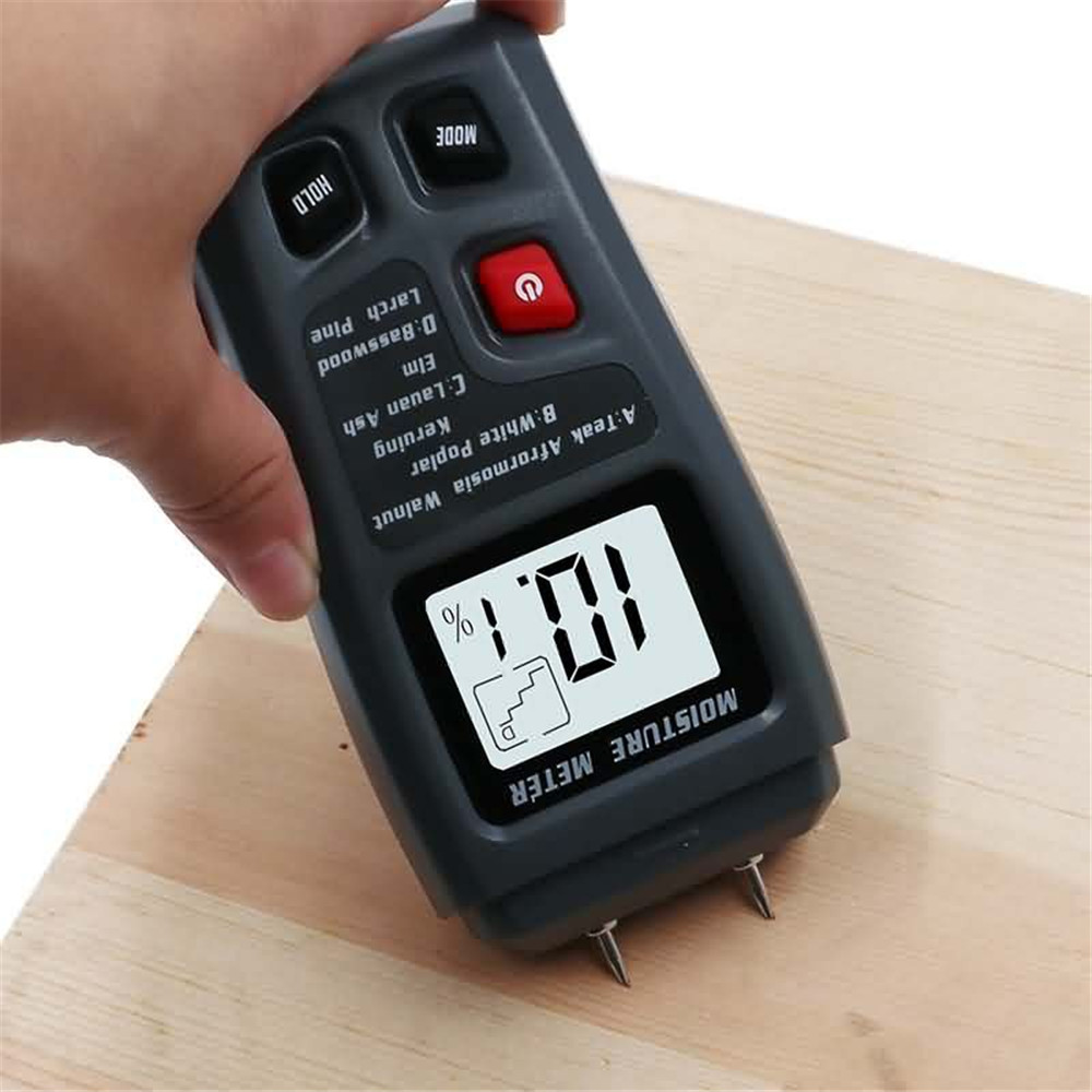 0 99 9 Two Pins Digital Wood Moisture Meter Wood Humidity Tester Hygrometer Timber Damp Detector Large LCD Display New in Moisture Meters from Tools