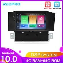 Radio Multimedia con GPS para coche, Radio con reproductor DVD, Android 10,0, 7 pulgadas, navegador, 4 GB de RAM, para Citroen C4, C4L, DS4, 2004 2012
