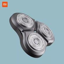 الأصلي شفرة حلاقة ل شاومي Mijia ماكينة حلاقة كهربائية S300 S500 S500C الحلاقة شفرات الحلاقة الصلب مقاوم للماء طبقة مزدوجة شفرة