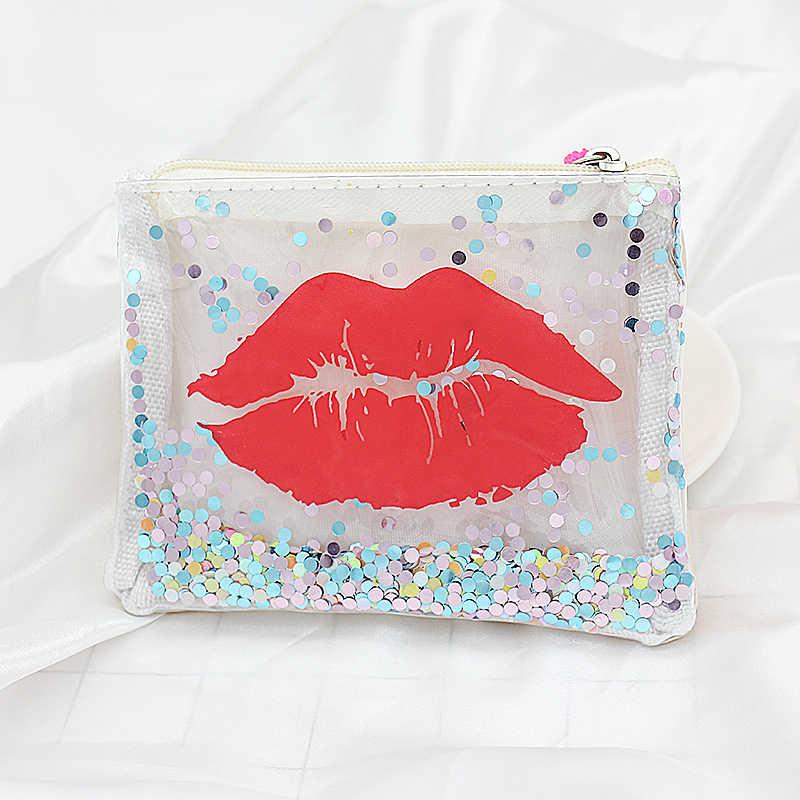 XZP Transparent Geldbörse Frauen Kleine Brieftasche Weibliche Ändern Geldbörsen Mini kinder Tasche Brieftaschen Schlüssel Karte Halter PVC Hand taschen