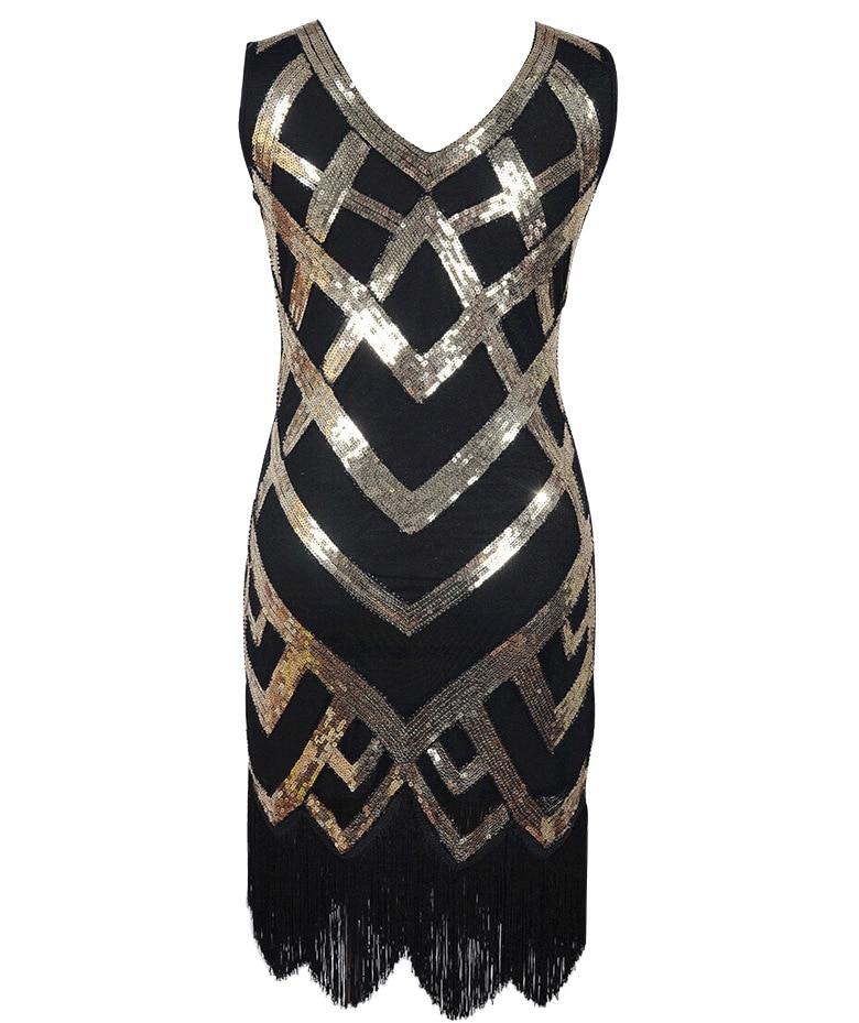 AliExpress Hot Selling Luxury Sequin Tassels Banquet Dress 1920 Retro Hot Models