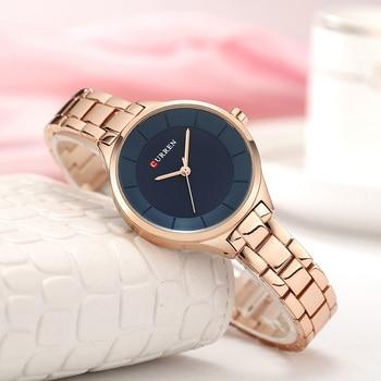 Curren Couple Watch Set 2020 Casual Chronograph Watch Men Rose Gold Women Watches Ladies For Lovers Wristwatch Relogio Feminino