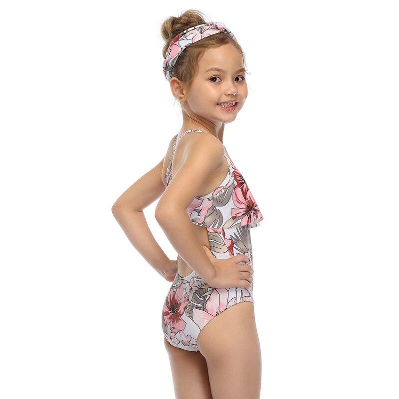 Girl Kid Striped Bikini Swimwear One-Piece Swimsuit Bathing Suit Beachwear 2-14Y