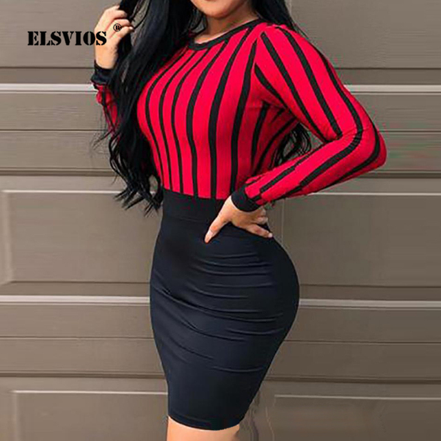 Women Sexy Mini Dress Hollow Out Backless O Neck Bag Hip Slim Bodycon Party Dress Spring 2021 Fashion Striped Stitching Dresses 1