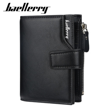 2020 NEW Men Wallets Business Zipper Card Holder Male Purse High Quality New PU Leather Vintage Coin