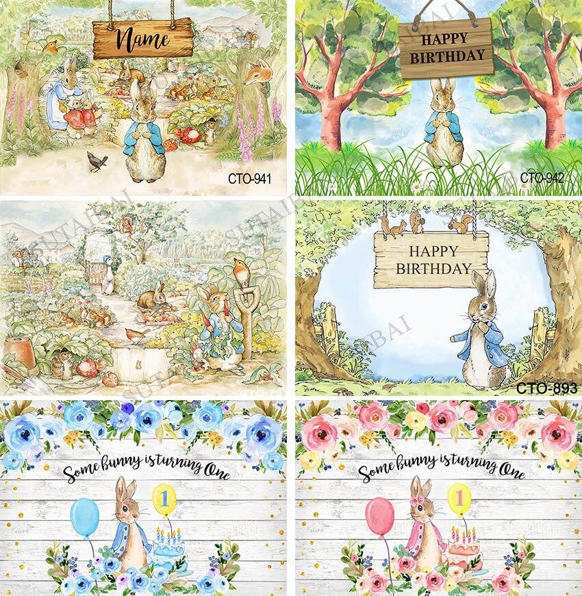 Фон для Пасхальной вечеринки кролик Луг полевые яйца цветы весенний фон Печатные фоны