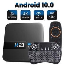 Caixa superior esperta da tevê do jogador dos meios do vídeo h.265 do andróide da caixa 4k hd 3d da tevê do andróide 10 2.4g wifi 2gb 16gb android 10 caixa da tevê
