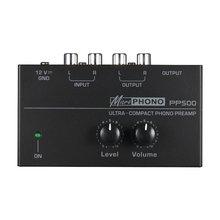 Pp500 ультра компактный преусилитель phono с уровнем и регулятором