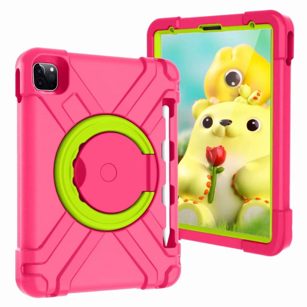 Rose-Green Green High Duty for iPad Pro 11 2018 2020 Case Kids A1980 A2230 Shockproof EVA 360 Pencil