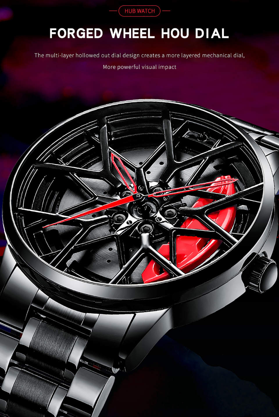 H1cd33a3f2cea419c9a6c2c5329a8a284N NIBOSI 2020 Car Rim Hub Wheel Watch Custom Design