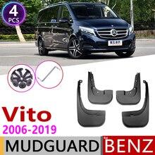 Mudflap สำหรับ Mercedes Benz Vito Viano V Class 2006 ~ 2019 W639 639 W447 447 Fender Mud GUARD Splash FLAP อุปกรณ์บังแดด 2010