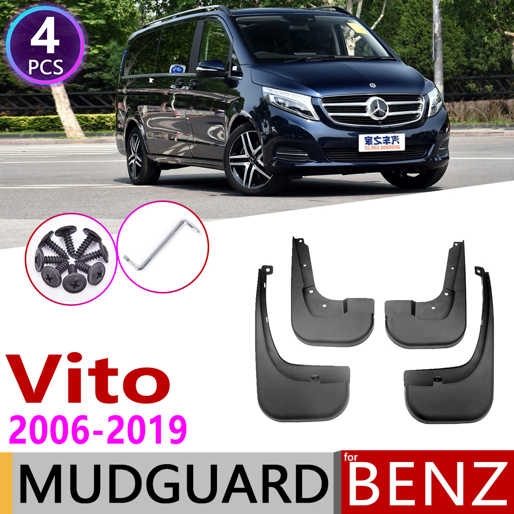 Mudflap For Mercedes Benz Vito Viano V Class 2006~2019 W639 639 W447 447 Fender Mud Guard Splash Flap Mudguards Accessories 2010